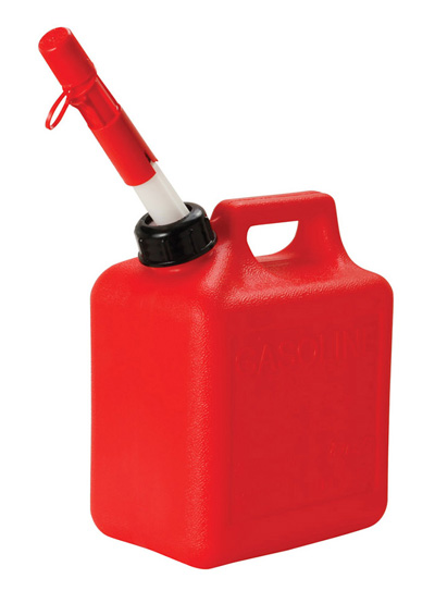 Fuel Can, 1 Gallon Red Plastic Gas Can