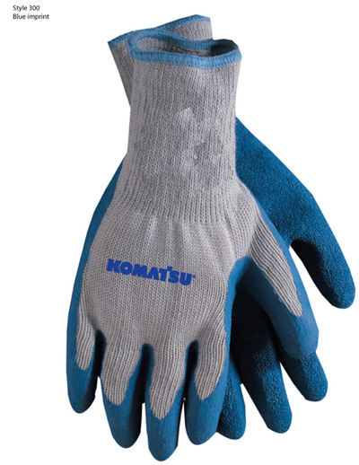 Gloves, Palm Dipped Blue/Grey – Komatsu