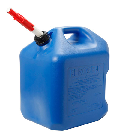 Fuel Can, 5 Gal Blue Carb/EPA Plastic Kerosene Can