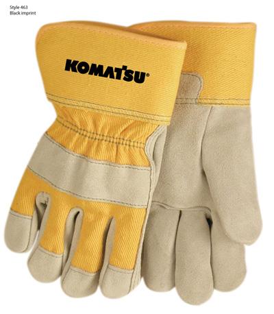 Gloves, Suede Cowhide w/ Safety Cuff – Komatsu