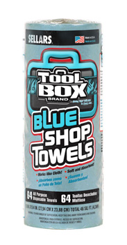 Shop Towels, 64 ct, Roll, Blue