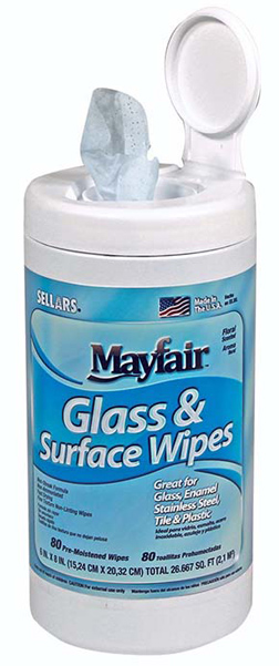 MAYFAIR Glass & Surface Wipes