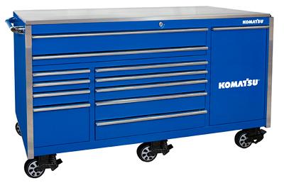 Tool Storage, 76″ 12-Drawer Professional Roller Cabinet – Komatsu Blue