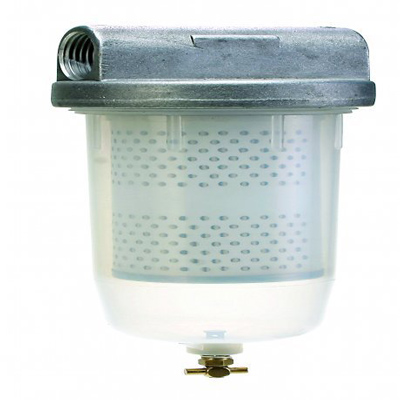 Fuel Filter with 10 micron filter element , 1″ NPT