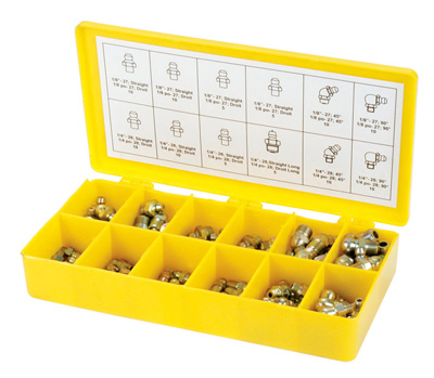 Grease Fitting, 60 Piece Metric Assortment