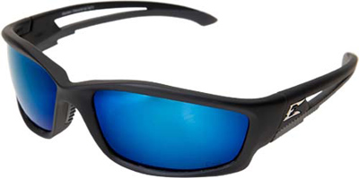 Eyewear, Kazbek Series, Matte Black / Polarized Blue Mirror Lens