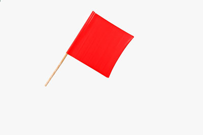 Vinyl Flag 18″ W/24″ Wooden Dowel, Bright Red