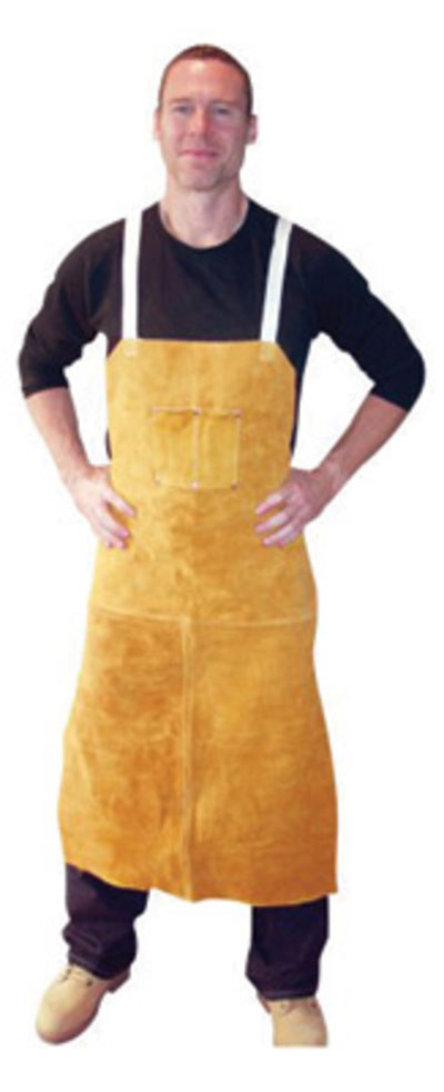Leather Apron Bib with 2 Chest Pockets